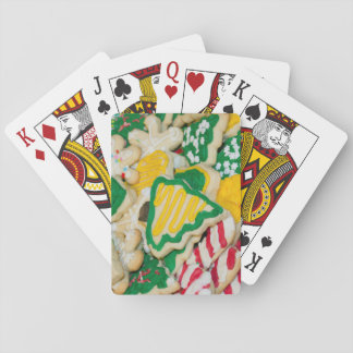 Decorated Frosted Homemade Christmas Sugar Cookies Playing Cards