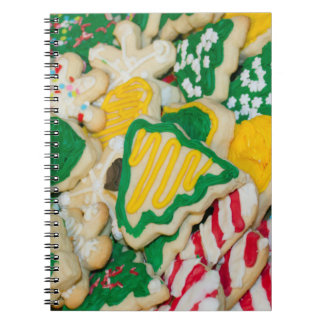 Decorated Frosted Homemade Christmas Sugar Cookies Spiral Notebook