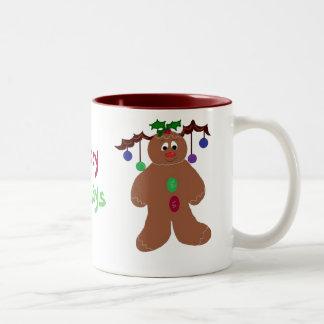Decorated Gingerbread Man Coffee Mugs