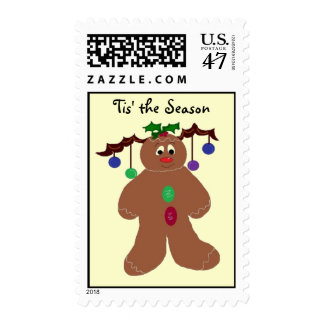 Decorated Gingerbread Man Postage