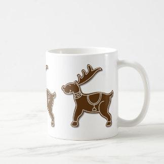 Decorated Gingerbread Reindeer Holiday Mug