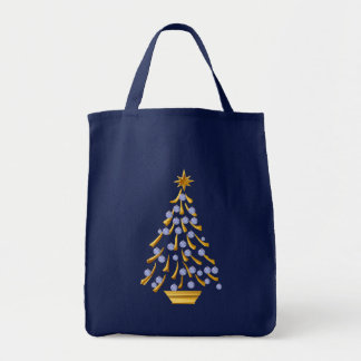 Decorated Gold Christmas Tree Bag