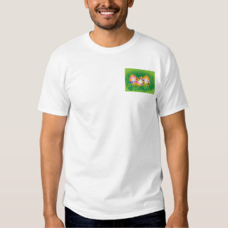 Decorated gold Easter eggs on grass Tee Shirt