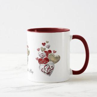 Decorated Hearts Mug