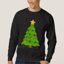 Decorated Holiday Tree Ugly Christmas Swaeter Sweatshirt