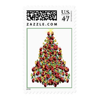 Decorated Holiday Tree USPS Christmas Stamps 2016