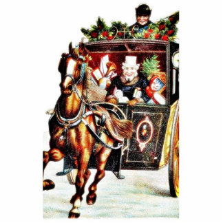 decorated horse cart running statuette