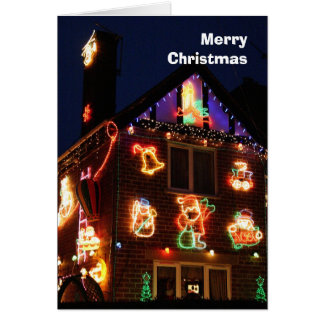 Decorated house Christmas card