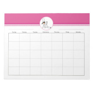 Decorated Kitchen Blank Weekly Planner Note Pad