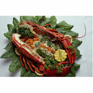 Decorated Lobster plate food lovers Cutout