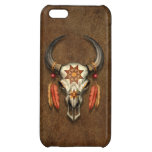 Decorated Native Bull Skull with Feathers iPhone 5C Cover