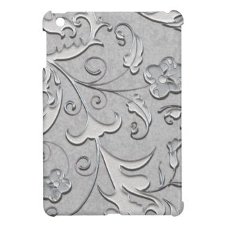 Decorated Silver Scolls Case For The iPad Mini