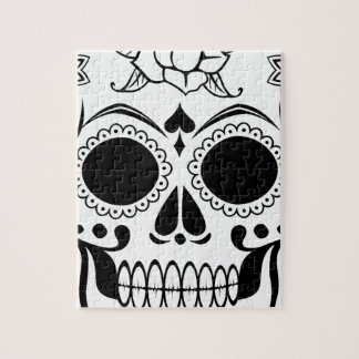 Decorated skull jigsaw puzzle
