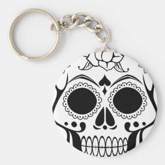 Decorated skull keychain