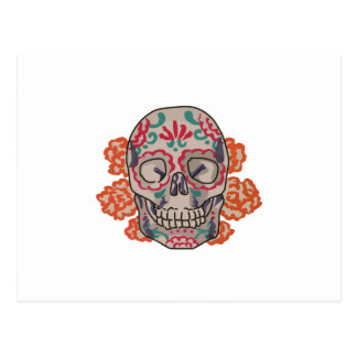 Decorated Skull Postcard