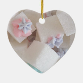 Decorated Sugar Cubes Heart Shaped Ornament