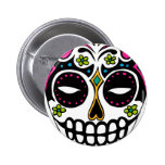 Decorated Sugar Skull Buttons