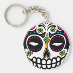Decorated Sugar Skull Key Chains