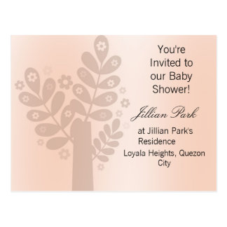 Decorated Tree Baby Shower Postcard Invitation