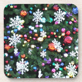 Decorated Tree Close Up Set of Cork Coasters