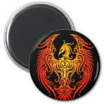 Decorated Tribal Phoenix Refrigerator Magnet