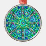 Decorated Turquoise Mandala Ornament