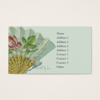 Decorated Valentine Fan Business Card