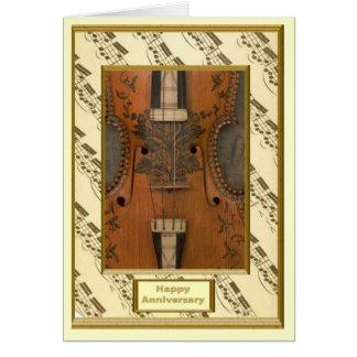 Decorated violin card