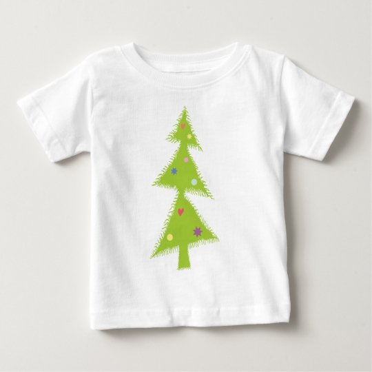 decorated Xmas tree Baby T-Shirt