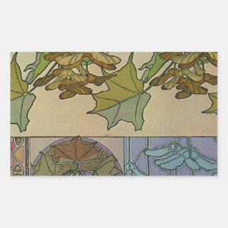 Decoratifs 1901 Alfons Mucha - Art Nouveau Rectangular Sticker