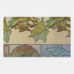 Decoratifs 1901 Alfons Mucha - arte Nouveau Pegatina Rectangular