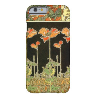 Décoratifs del arte (flores anaranjadas) por funda para iPhone 6 barely there