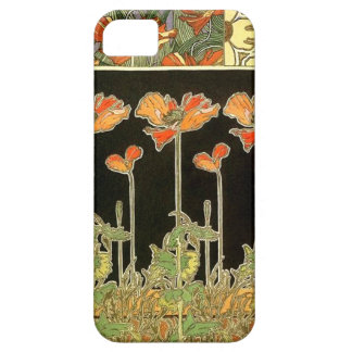 Décoratifs del arte (flores anaranjadas) por iPhone 5 fundas