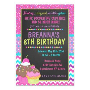 cupcake party invitations zazzle