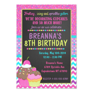 Decorating Cupcake Party Invitation