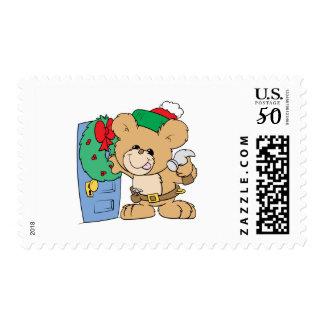 decorating for christmas teddy bear design postage