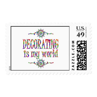 Decorating is My World Stamp