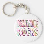 Decorating Rocks Keychain