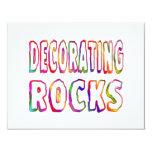 Decorating Rocks Personalized Invitation