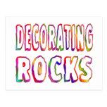 Decorating Rocks Post Card