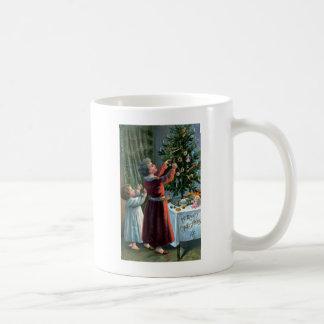 Decorating the Tabletop Tree Classic White Coffee Mug