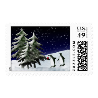 Decorating the tree postage