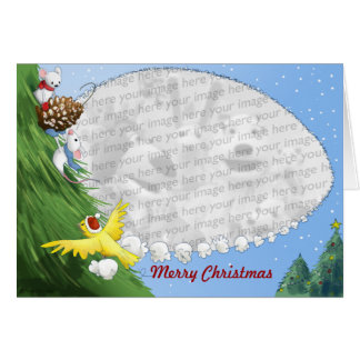 Decorating the tree template card