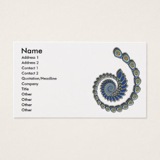 Decoration Abstract Fractal Art Business Card