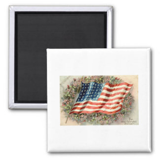 Decoration Day American Flag 1910 2 Inch Square Magnet