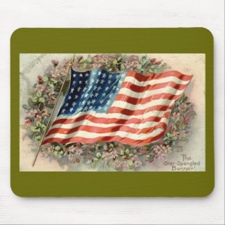 Decoration Day American Flag 1910 Mouse Pad