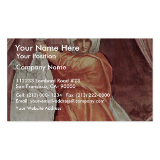 Decoration Of The Chapel Of Pope Leo X Santa Maria Business Card