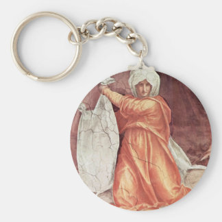 Decoration Of The Chapel Of Pope Leo X Santa Maria Keychain