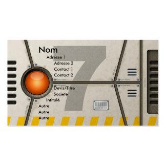 Decoration sci-fi business card