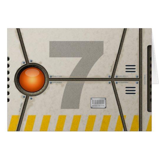 Decoration sci-fi card
